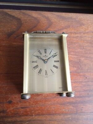 Vintage Royal Quartz Brass Carriage Clock. Made In Germany. Works Great. Estate