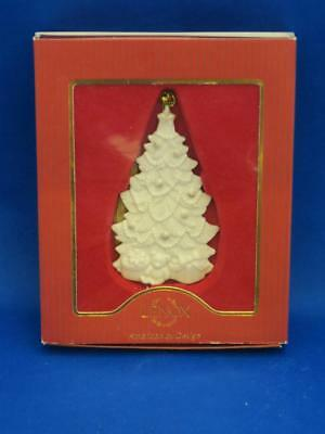 Lenox TREE WITH PRESENTS ORNAMENT White w/ Gold Accents Christmas NEW IN BOX