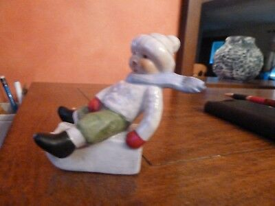 Vintage Goebel Figurine Boy on Sled 73904