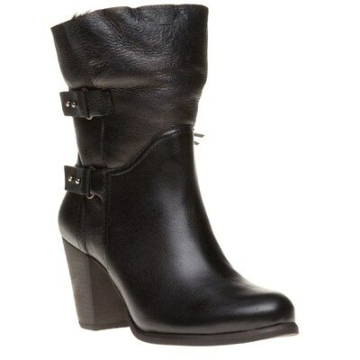 26467a6e5ab NEW WOMENS UGG® BLACK JAYNE LEATHER BOOTS HIGH HEELS