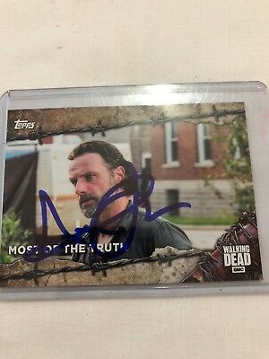 The Walking Dead Autograph Andrew Lincoln As Rick Grimes