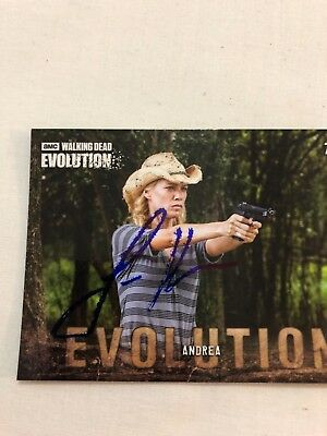 The Walking Dead Autograph Laurie Holden As Andrea