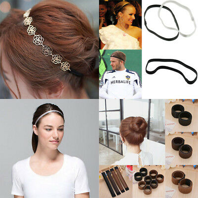 Elastic Women Men Girl Headband Twist DIY Head Band Sport Football Hairband New