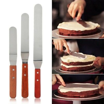 6/8/10inch Stainless Steel Butter Cake Cream Knife Spatula Smoother Icing Tools