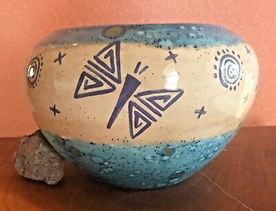 Authentic Native American Pottery Bowl Cochiti Pueblo NM Signed by Artist