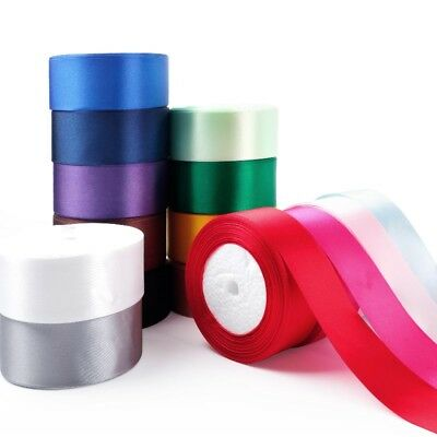 1 Roll 25 Yard Multicolor Silk Satin Ribbon Wedding DIY Christmas Festival Decor