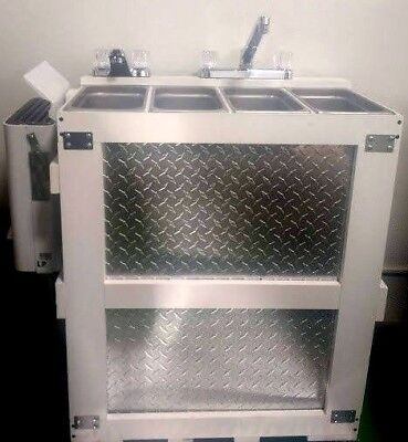 Standard Portable Propane 3  4 Compartment Concession Sink Kit & Hand Wash,