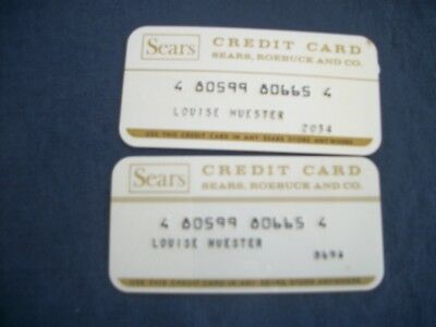 Two Vintage 70's Sears Roebuck Store Credit Card Charge Card