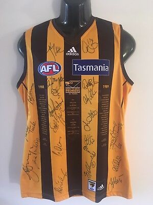 hawthorn signed jumper