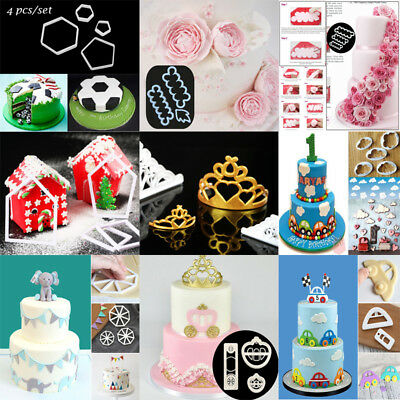 Fondant Cake Decorating Cookie Plunger Cutter Mold Sugarcraft Paste Baking Tools