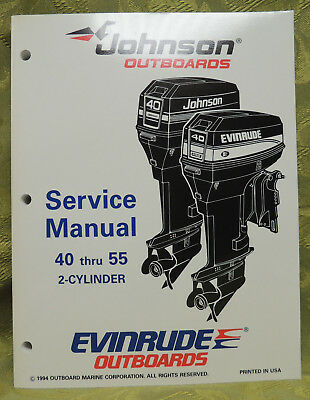 1995 Johnson Outboard Service Repair Manual 25 40 45 48 50 55 HP Evinrude