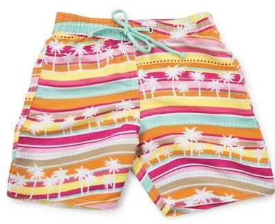 NWT Girls Cupid Palm Tree Boardshort Swimmers - Size 00
