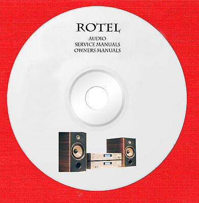 Rotel Audio Repair Service and owner manuals on 1 dvd in pdf format