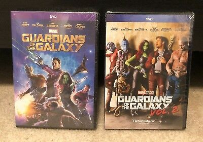 Guardians of the Galaxy Volume 1 & Volume 2 DVDs Bundle (New & Free Shipping)