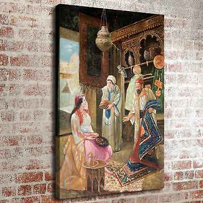 Muslim Lady Sitting Home Decor Room HD Canvas Print Picture Wall Art Painting