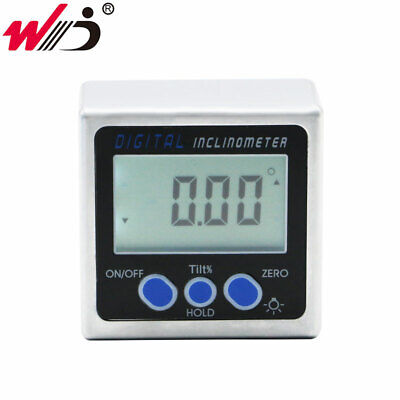 Aluminum Alloy Digital Protractor Inclinometer With Back Light Angle Bevel Box