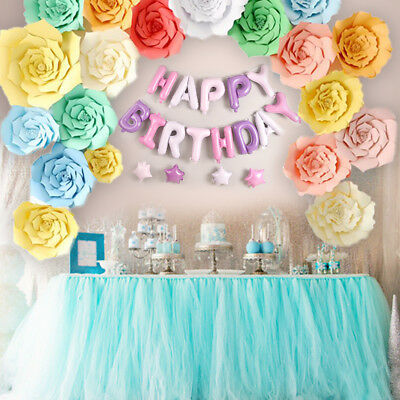 LARGE PAPER FLOWERS Decor Backdrop Wedding Baby Birthday Party Wall ...