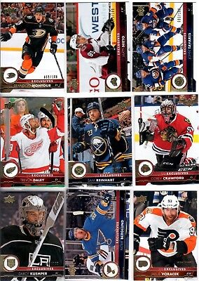 2017-18 Upper Deck Exclusives PICK YOUR SINGLES LOT WOW FLAT SHIPPING RATE