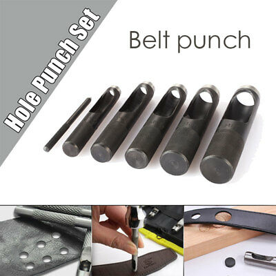 Sturdy Puncher Equipment Leather Punch Black Diverse Tool Round Punch Belt Hole