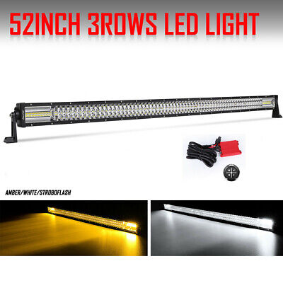 25inch 120W Curved Cree Led Light Bar Combo Truck 4WD UTE Single Row Slim 24//26/""
