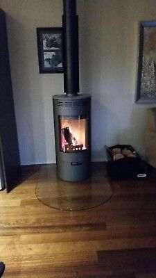glass fireplace hearth clear