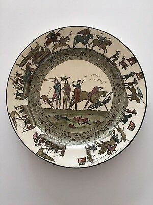 Royal Doulton Bayeux Tapestry plate 1066 RARE SCENE D2873