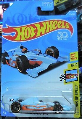 2018 Hot Wheels F CASE HW Legends Of Speed GULF Indy 500 Oval 5/10 New