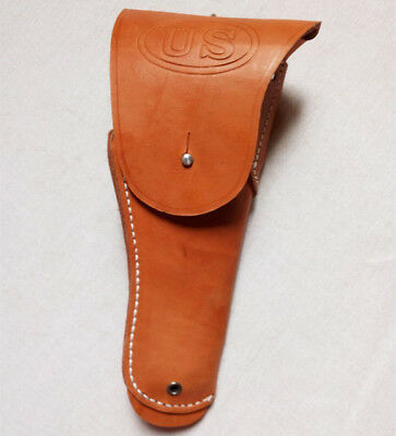 WWII USMC US Army M1916 Brown Leather Pistol Holster For Colt 45 M1911