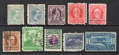 Caribbean: A Nice Selection of 10-Used Issues Between 1891 & 1939 (Reduced Post)