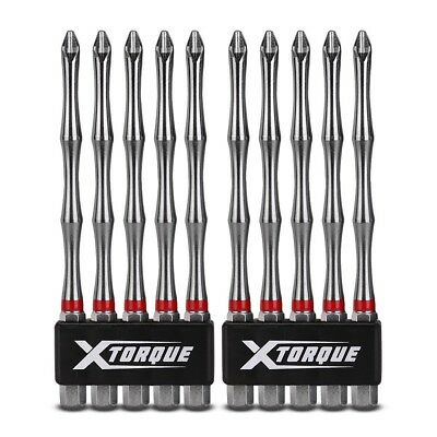 Xtorque Ph2100-X10 Ph2 100Mm Philips Head Torsion Driver Bit Value Pack
