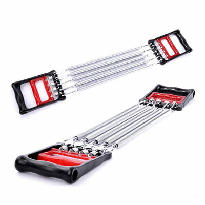 New Detachable 5 Spring Chest Pull Expander Fitness Puller Strength Exercise AU