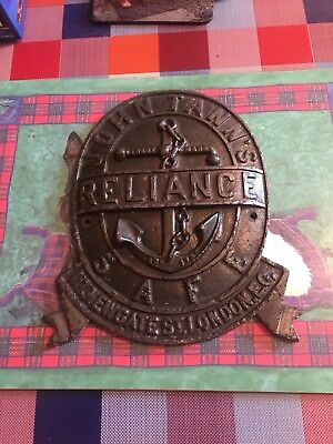 John Tann's Reliance Safe Plate / Plaque  - 117 Newgate St London Antique London