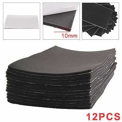 12 Sheets 10mm Cell Foam Car Sound Proofing Deadening Van Boat Insulation