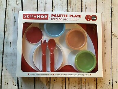 Skip Hop Palette Plate 9 Piece Feeding Set Brand New in Box - Toddler