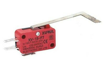 """1 xXV-15-F7 Miniature Micro Switch 15A Simulated Big """"L"""" Lever Type Electrictool"""