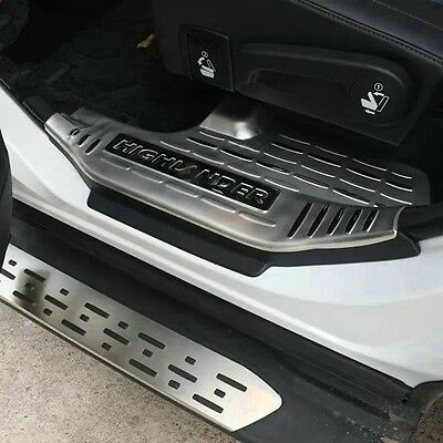 Stainless Steel Inside Door sill scuff plate Guards Sills For Toyota Highlander