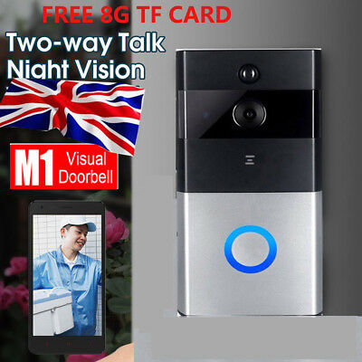 WiFi Smart Wireless Ring Doorbell Visual Camera HD Video Camera Phone Intercom