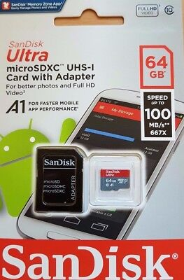 New San Disk Class 10 Ultra 64GB 100MB/s Micro SD SDHC Memory Card UHS-I