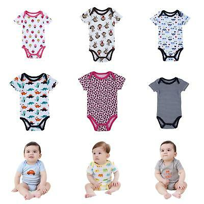 Infant Baby Girls Boy Cartoon One-Pieces Romper Soft Short Sleeve Jumpsuits Nice