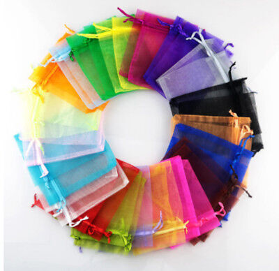 100Pc Organza Gift Bags Luxury Wedding Party Jewellery Packing 17 COLOUR