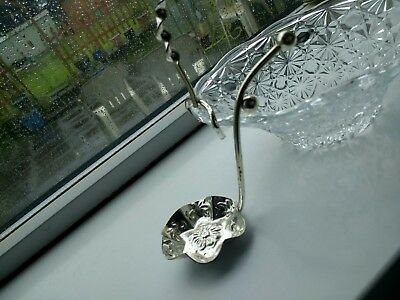 Silver plated preserve dish and spoon