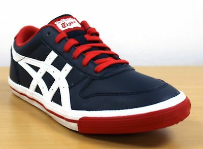 premium selection be568 55b58 ASICS ONITSUKA TIGER Kids Shoes Aaron GS Trainers Boys Navy Retro Sports  Shoes