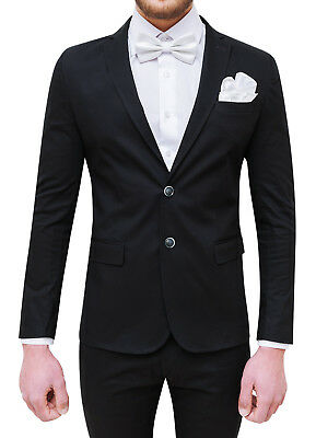 Costume Homme Complet Sartoriale Noir 100% Made In Italy Avec Noeud Papillon 2ec8bf8abbf