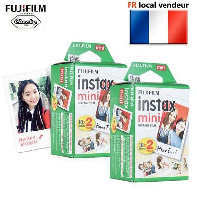40 Blanc Fuji Instax Mini Film Photo Pour Fujifilm Mini 7s/8/25/50/90/70 FR EU