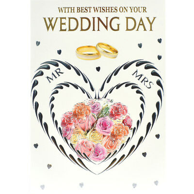 wedding card best wishes on your wedding day beautiful verses greeting card
