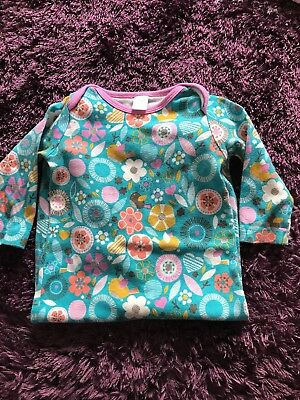 Boots Mini Club 9-12 Months Baby Grow sleepsuit Blue Birds Flowers Patterned