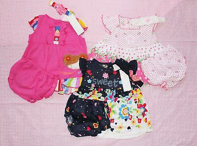 #F21, Baby Girl Clothes 9 Pcs/3 Set Baby Girl 3-6 Months Skirt+pants+Headband