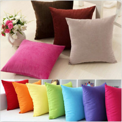 Pillow Case Cotton linen Cover Decorative Square Home Sofa Throw Cushion Cover