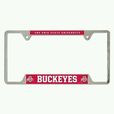 Fanmats Ohio State Buckeyes Metal Chrome License Plate Frame Delivery 2-4 Days