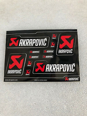 original Akrapovic Aufkleber-Set